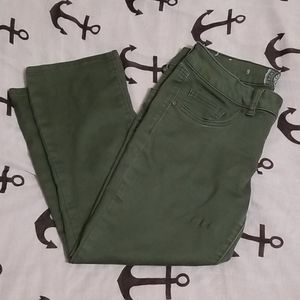SO Jean's olive green crop pants, size 9 juniors